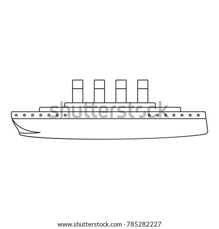 titanic icon outline