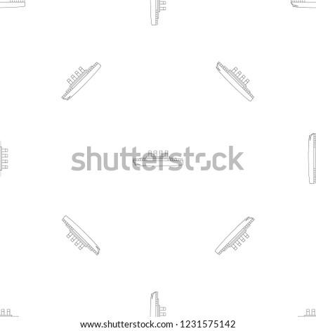 titanic pattern seamless vector