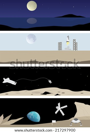 title  earth from the moon