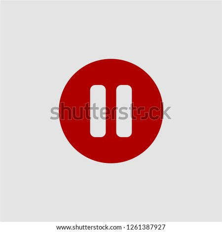 Title: Filled pause super icon. Pause vector illustration for graphic design. Pause symbol.
