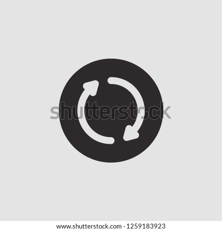 Title: Filled rotation super icon. Rotation vector illustration for graphic design. Rotation symbol.