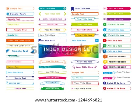 Title Index Tmplete Set Color