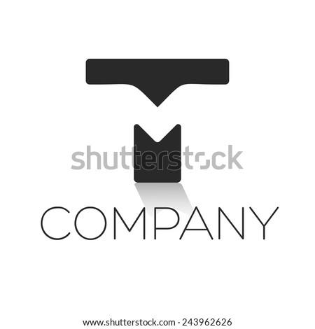 TM letter logo  Stock fotó ©