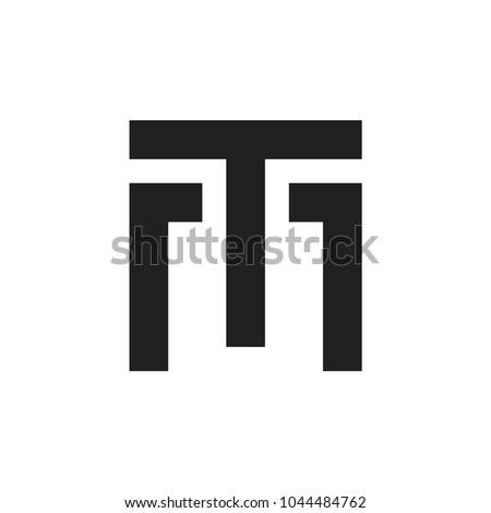 TM letter logo design vector Stock fotó ©