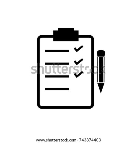 To do list, check list clipboard vector icon with pencil