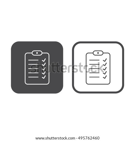 To Do List icon vector. Gray and white