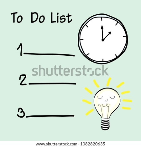 to do list  time manage ment