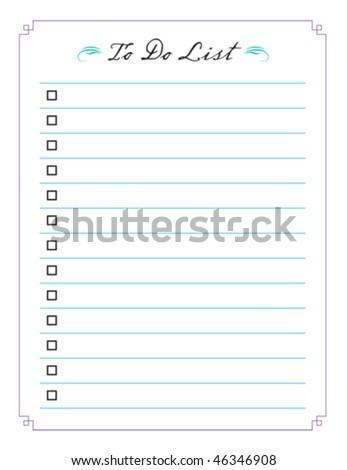 To Do List vector.