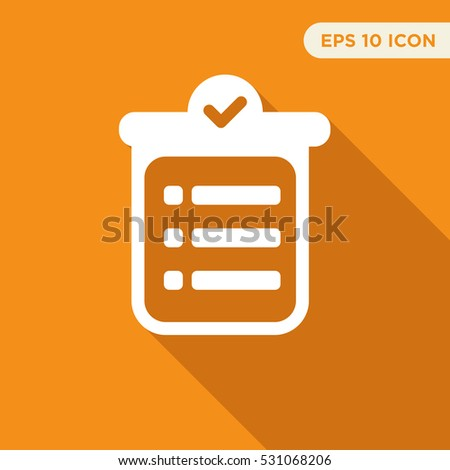 To do list vector icon, notes sign