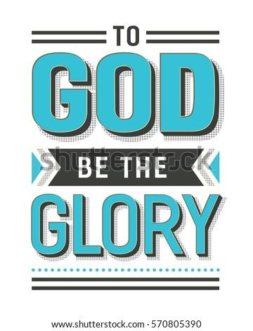 to god be the glory gospel hymn