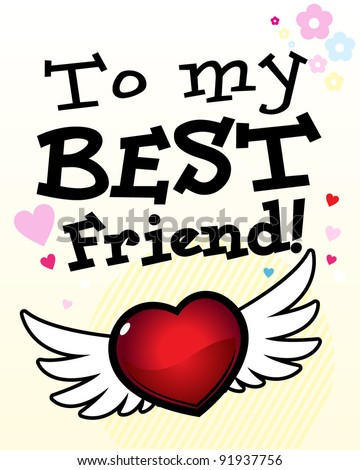 to my best friend card