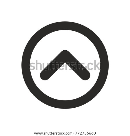 To top. Up arrow icon vector