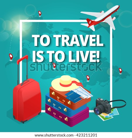 to travel is to live  bag