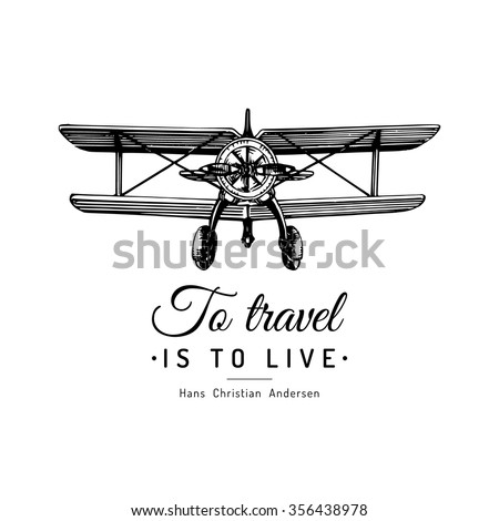 to travel is to live vector