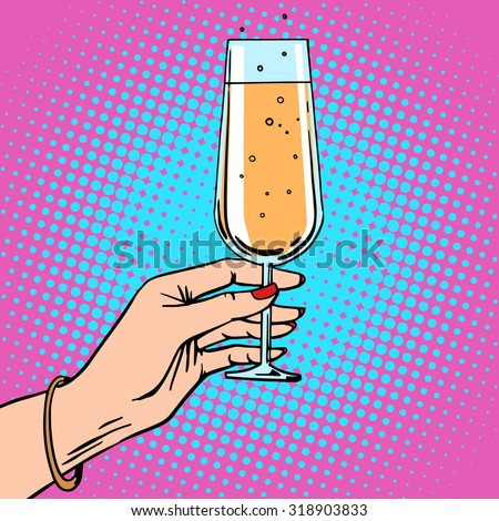 toast   a female hand with