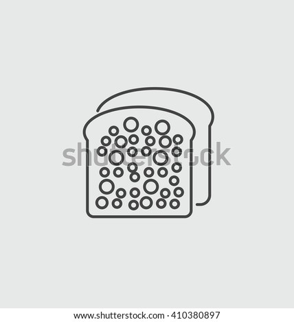toast bread vector sign