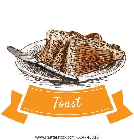 toast colorful illustration