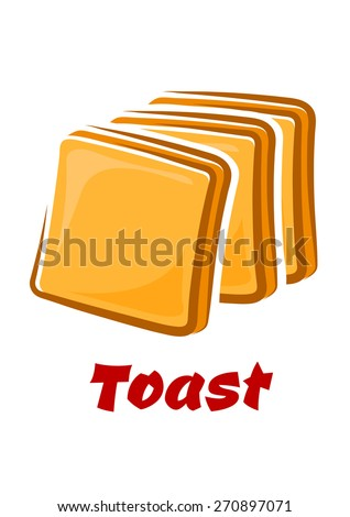 toasted bread slices with
