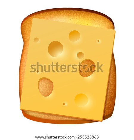 toasted bread with slice of