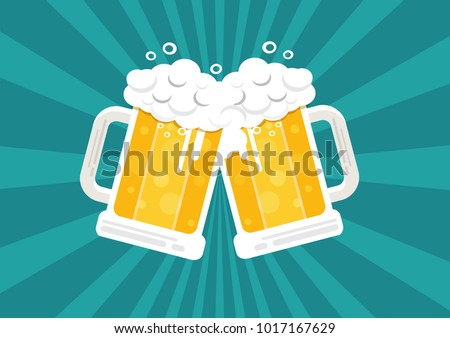 toasting beer glasses  cheers