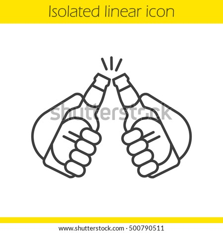 toasting linear icon thin line