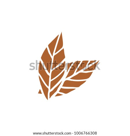 tobacco leaves doodle icon Stock photo ©