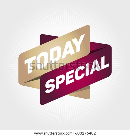 TODAY SPECIAL arrow tag sign. #608276402