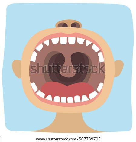 Toddler opened his mouth to show us all his teeth