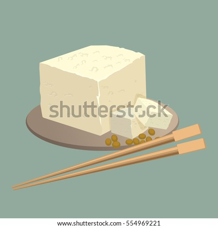 tofu cheese on plate with