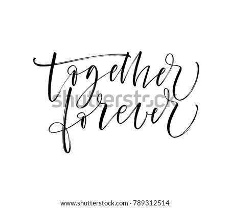 together forever card romantic