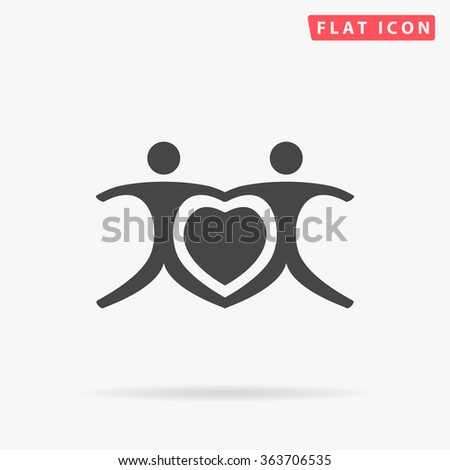 together icon vector together