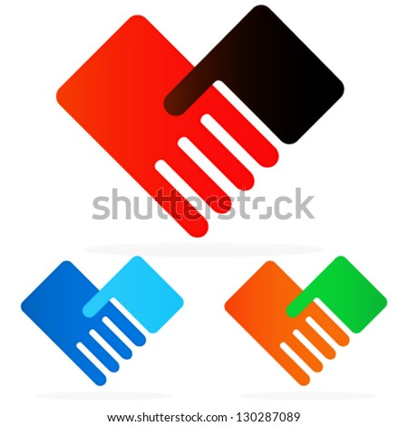 Togetherness, Networking, Partnership, Help, Care Simple Concept Symbols/Icons
