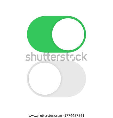 Toggle switch buttons isolated on white background. Vector illustration Stock photo ©