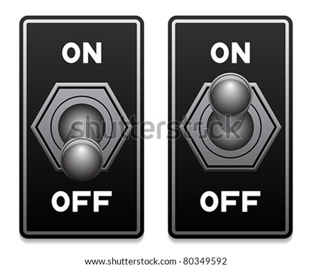 toggle switch vector - stock vector