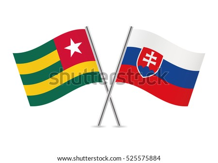 togo and slovakia flags vector