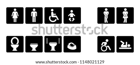 Toilet day toilets wc restroom Disable wheelchair vector icon print pissing handicap people man men lady woman boy girl fun funny human sign signs gender toilet baby rooster people person baby steps
