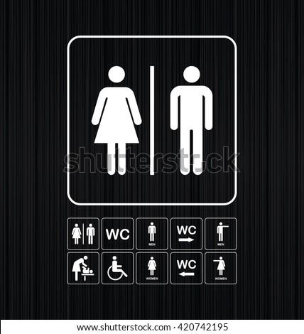 toilet door wall plate