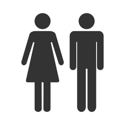 Toilet icon man and women. WC vector illustration.