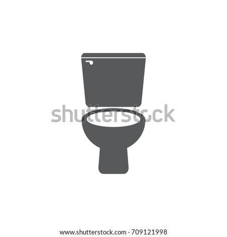 Toilet icon on white background. Toilet sign.