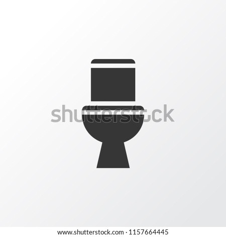Toilet icon symbol. Premium quality isolated wc element in trendy style.