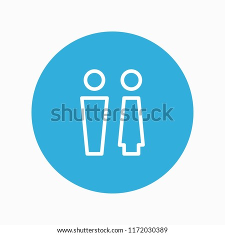 toilet icon vector #1172030389