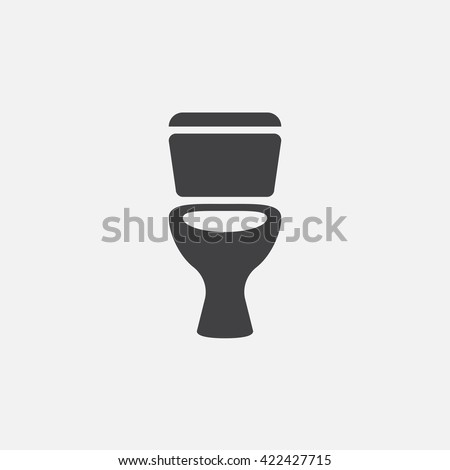 Toilet icon vector, solid logo illustration, pictogram isolated on white