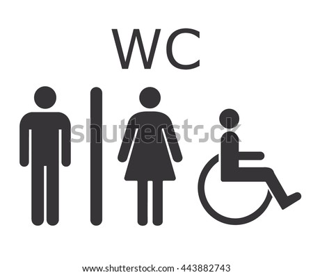 vector images illustrations and cliparts toilet icon wc sign