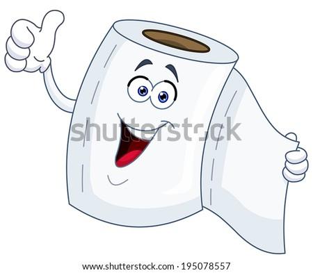 toilet paper cartoon showing
