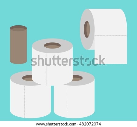 Toilet paper flat icon. Modern flat icon vector set