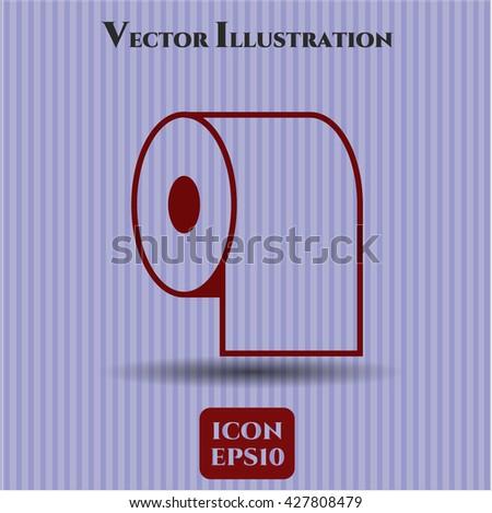 Toilet Paper icon or symbol