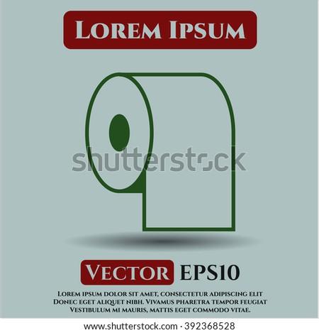 Toilet Paper icon vector illustration