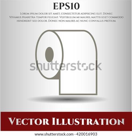 Toilet Paper icon vector symbol flat eps jpg app web