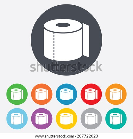 toilet paper sign icon wc roll