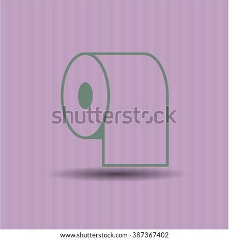 Toilet Paper vector icon or symbol